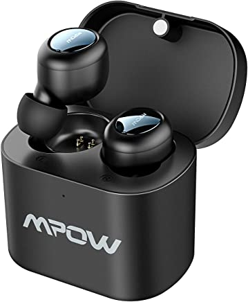 Mpow Auricolari Bluetooth TWS, Auricolari Wireless 5.0 True TWS, 2 Modalità/15 Ore di Riproduzione, Due Mini Cuffie in-Ear Wireless, Auricolari Mini per iPhone/Samsung/Huawei/iPad/Android