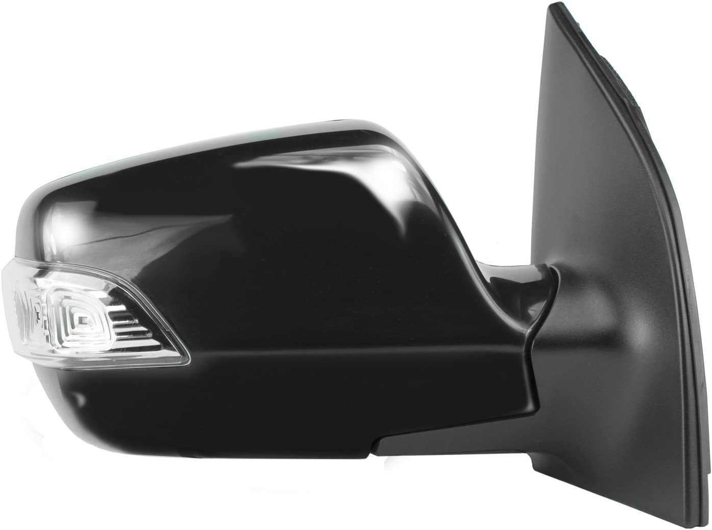 w//Turn Signal Power Foldaway Fit System Passenger Side Mirror for Kia Sedona Textured Black w//PTM Cover