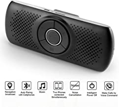 Wireless in Car Handsfree Speakerphones, TIANSHILI Portable Bluetooth Speaker,Stereo Sound Enhanced Bass/Built-in Mic/TF Card Player/Google Assistant Voice Command for Car, Home, Outdoor