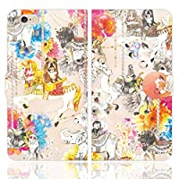 iPhone6S iPhone6 手帳型 ケース カバー メリーゴーランド ピンク NoA 遊園地 ブルテリア ゾウ ライオン ラクダ
