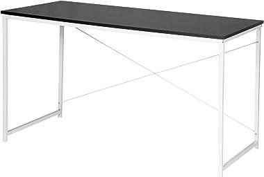 WOLTU Scrivania Computer Tavolo da Lavoro Ufficio Scaffale in Acciaio Legno 120x60x70 cm TSB08sz