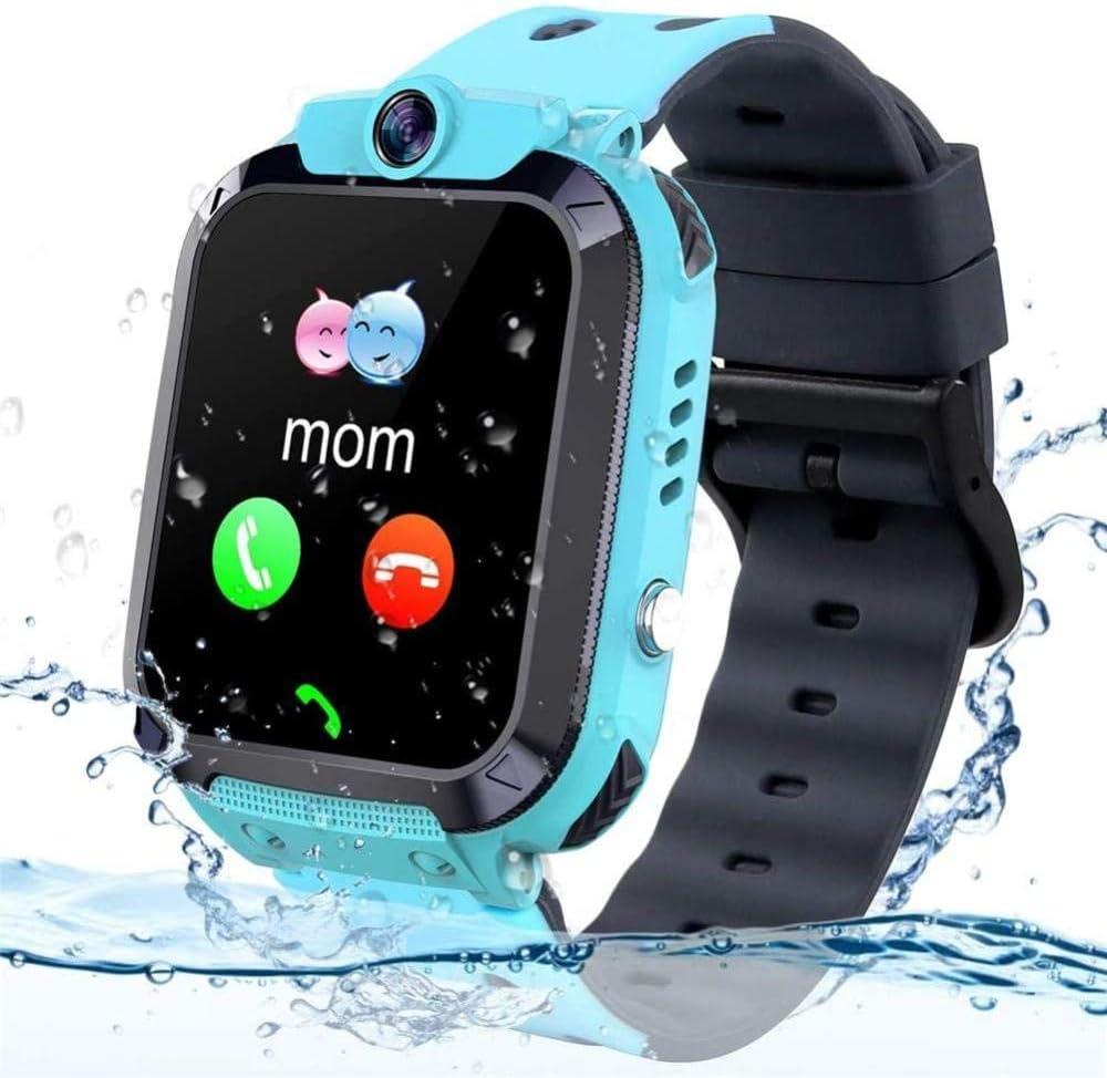 Reloj de pulsera para niños con GPS IP68, resistente al agua, con rastreador GPS, reloj despertador, cámara de juego compatible con 2G T-Mobile regalo de cumpleaños para niños (rosa)