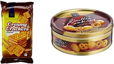 Sapphire Creamy Crackers, 350g + Sapphire Butter Cookies, Gold Collection, 400g