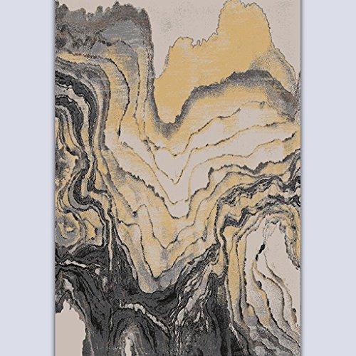 ASL Table basse simple et moderne Salon Chambre Étude Sofa Process Ink Painting Mash Up Art plus épais Tapis Tapis Tapis sos (Couleur : #2, taille : 120 * 170CM)