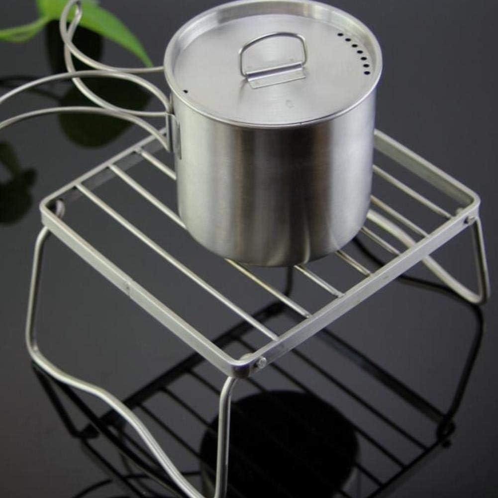 Barbecue Grill Barbecue pliant portable en acier inoxydable Grill Mini BBQ outils de poche Accessoires de cuisine for camping en plein air (Color : 17x15.5x9.5) 23x19.5x11