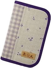 ラブリーリリー(Lovely Lily) 手作り母子手帳ケース S ラウンドファスナータイプ 2人分収納可能 小花柄 パープル RB9004SPL