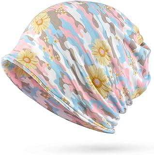 Lamdgbway Baggy Camo Beanie Hat Stretch Cotton Chemo Turban Scarf