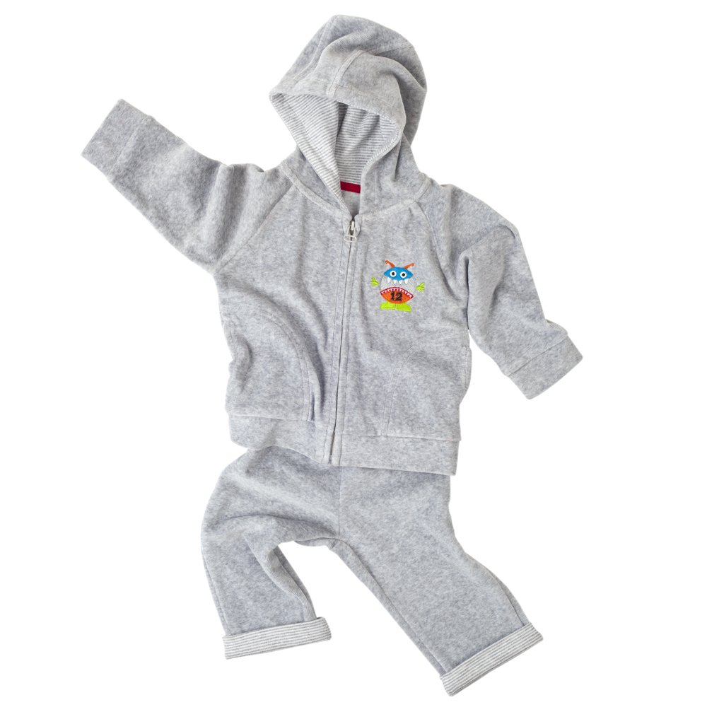 Elegant Baby Velour Track Suit, Play Ball, 12 Months
