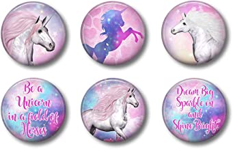 Cute Locker Magnets For Teens - Magical Unicorn Magnets - Fun School Supplies - Whiteboard Office or Fridge - Funny Magnet...