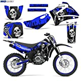 Wholesale Decals MX Dirt Bike Graphics kit Sticker Decal Compatible with Yamaha TTR125 2000-2007 - Reaper V2 Blue