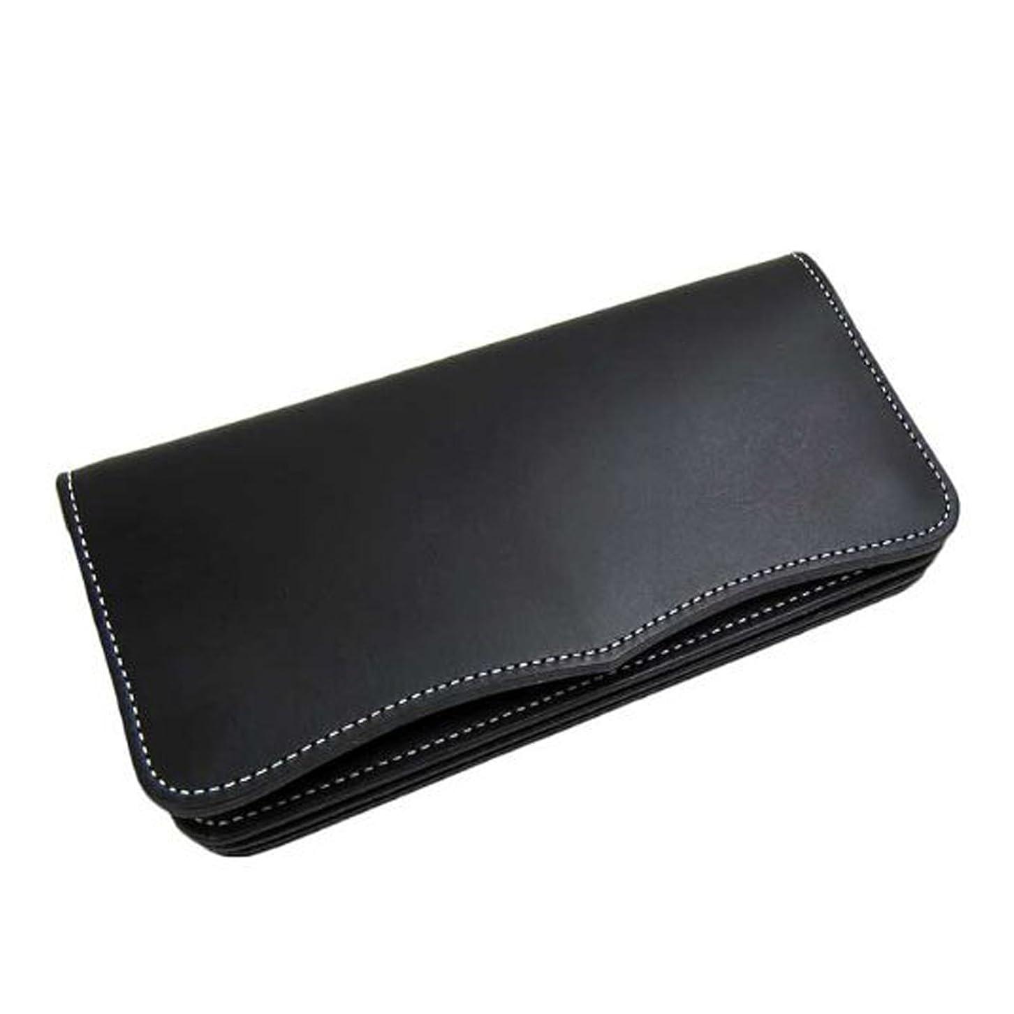 するプレミアム上級[Maturi マトゥーリ] 日本製 かっこいい長財布 (ヌメ革 MR-026) (ブラック)