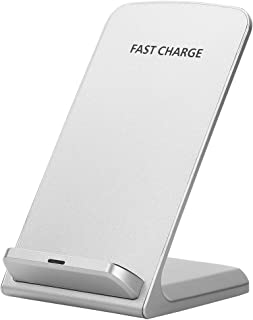 Bundle of 2, Docooler 10W QI Fast Wireless Charger Power Cellphone Bracket Phone Holder Stand White