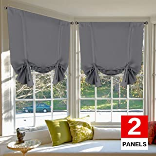 H.VERSAILTEX Blackout Energy Efficient Tie Up Shades Home Decor Rod Pocket Panels for..