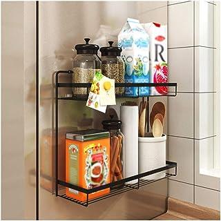 Dxbqm Organisateur de Stockage Support de réfrigérateur , étagère latérale Fournitures de Cuisine multifonctionnelles Supp...