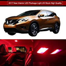 SCITOO LED Interior Lights 13pcs Red Package Kit Accessories Replacement for Nissan Murano 2003-2008