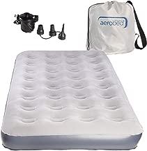 AeroBed Twin Air Mattress With Bag and Air Mattress Pump: Inflatable Mattress Twin, Blow Up Mattress With Air Bed Pump