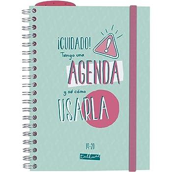 Agenda clásica grande 2019-2020 Semana vista encuadernación ...