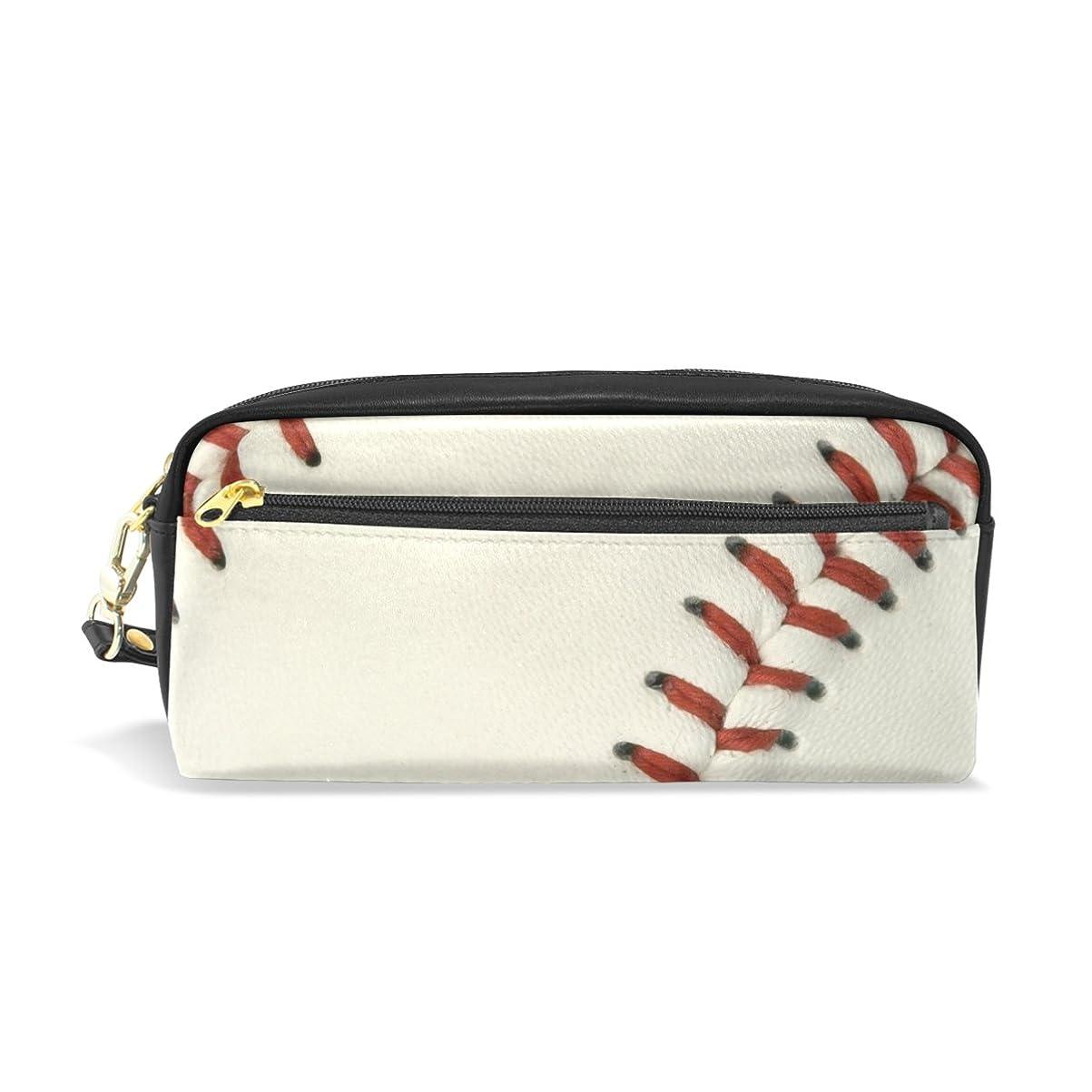 真空メーカー借りているAOMOKI ペンケース 化粧ポーチ 小物入り 多機能バッグ レディース 野球 ブラック