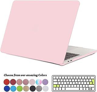 TECOOL Funda para MacBook Pro 13 2016 2017 2018 2019, Plástico Dura Case Carcasa + Tapa del Teclado para MacBook Pro 13.3 Pulgadas con/sin Touch Bar Modelo: A1706 A1708 A1989 A2159 - Cuarzo Rosa