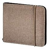 Hama CD-Tasche Up to Fashion (Mappe zur Aufbewahrung von 24 CDs/DVDs/Blue-Rays, antistatische Einschub-Hüllen) Sand