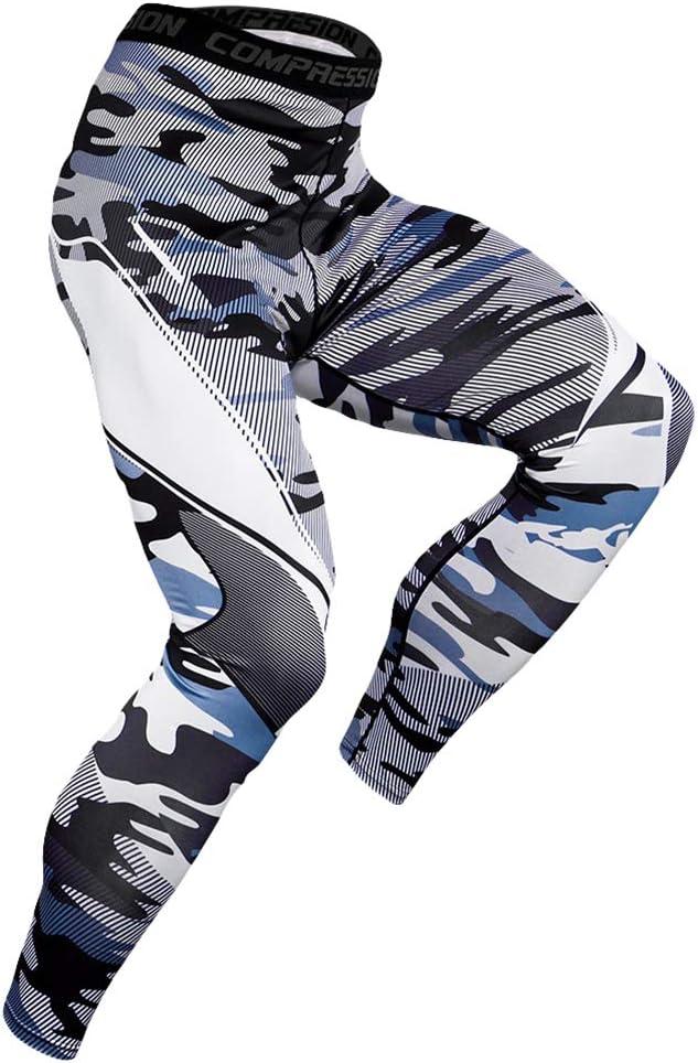 YiiJee Uomo Asciugatura Veloce Compressione Shorts Fitness Pantaloni Jogging Base Layer Pantaloni