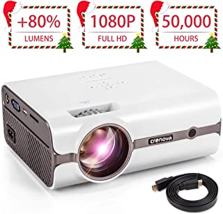 CRENOVA XPE496 Mini Projector, Full HD 1080P and 170'' Display Supported, Portable Mini Video Projector, 50,000 Hours Led, Compatible with PC, Mac, TV, Amazon Fire Stick, Roku, iPhone, iPad, PS - Projeksiyon Cihazı