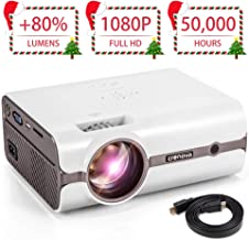 Home Projector Upgraded Crenova XPE496 1080P HD Home Video Projector (for PC/MAC/TV/Movies/Games with USB/SD/AV/HDMI/VGA Input)