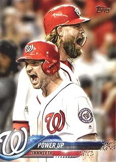 2018 Topps Baseball Series 2#379 Ryan Zimmerman/Jayson Werth Washington Nationals Combo Cards (Checklist) Official MLB