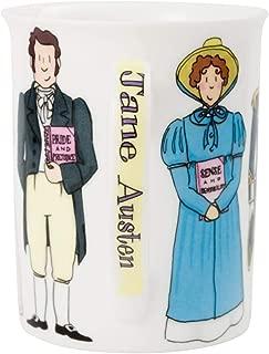 Jane Austen Books Pride & Prejudice Sense & Sensibility Mansfield Park Northanger Abbey Characters on Mugs for Women Teacher Gifts for Women 10 oz