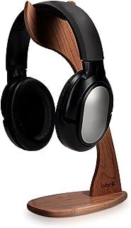 kalibri standaard voor koptelefoon - Houten koptelefoonhouder - Universele hanger voor hoofdtelefoon - Walnotenhout