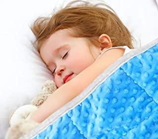 """Oileus 5lb Weighted Blanket for Kids (36""""x 48""""), Soft Calming Comfort Weighted Blanket, One Piece Mink Heavy Blanket for Boys and Girls Blue (40-60 Lbs)"""