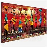 Cuadros Etnicos Tribal Art Paintings African Women Dancing Painting Una imagen para la sala de estar Canvas Home Decor-50x120cm sin marco