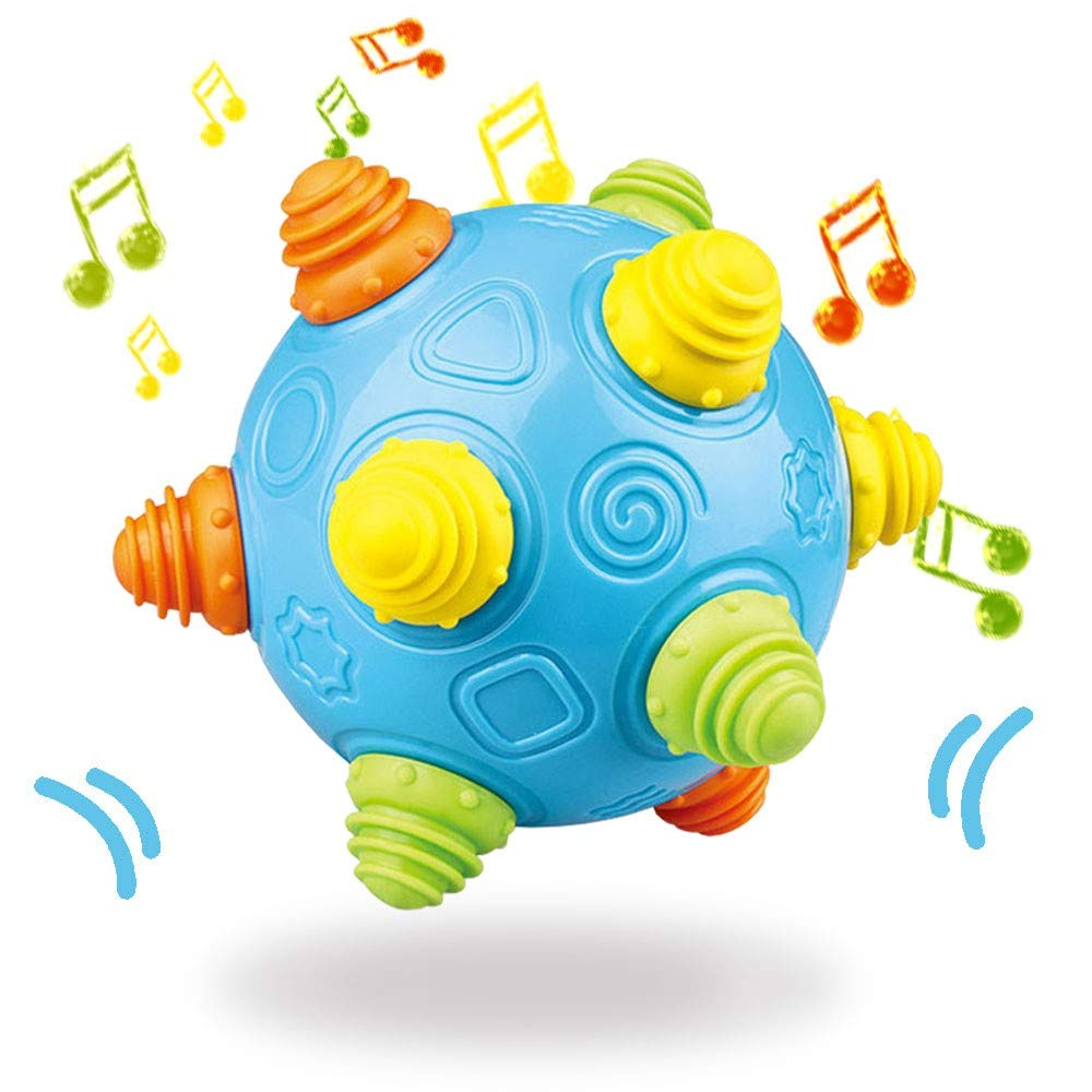 Baby Music Shake Dancing Jacksonville Mall Ball Toy Bouncing Sensory Limited time sale Free Dev BPA