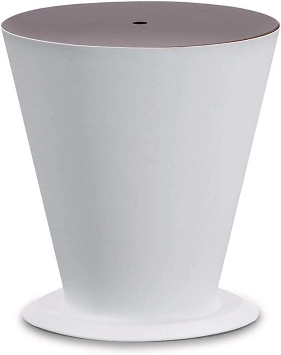 GREADEN Cubo de Hielo Enfriador de Jardín de Aluminio Cepillado con Tapa–Accesorio de Jardín Fiyi–GR7F, Blanco
