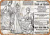 Froy 1889 Hal & Egrave; Form Dress Bazaar Cartel de chapa de pared Cartel de hierro retro Pintura...