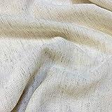 Kt KILOtela Tela por Metros de Cortina - Visillo - 25% Lino, 25 algodón, 50% poliéster - Ancho 300 cm - Largo a elección de 50 en 50 cm   Visillo Tejido Natural, Beige Lino