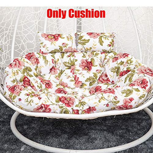 FCSFSF Thicken Hanging Chair Pad For Home,Soft Comfortable Swing Hanging Basket Seat Cushion,Double Seater Hanging Basket Chair Cushion N 130x95cm(51x37inch)