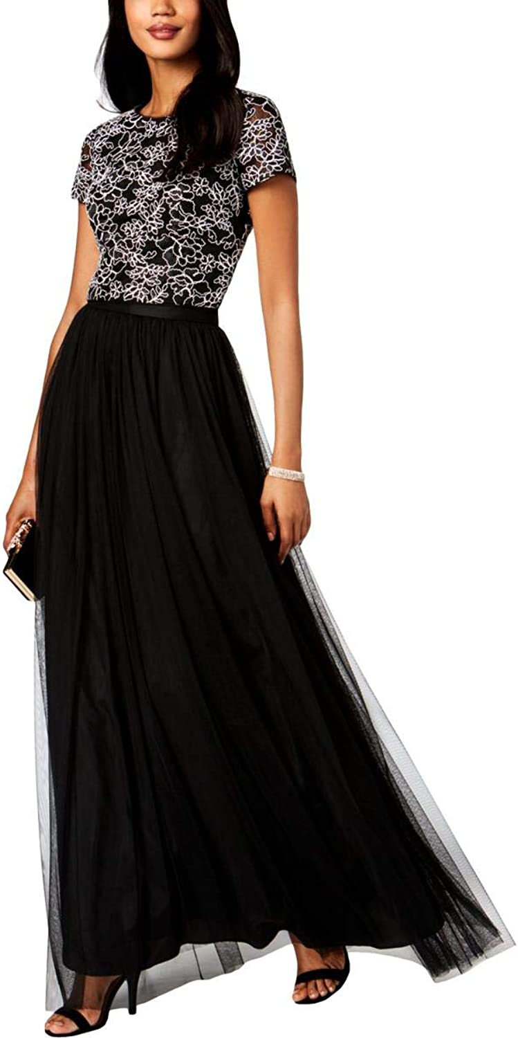 Adrianna Papell Womens 2PC Lace Evening Dress