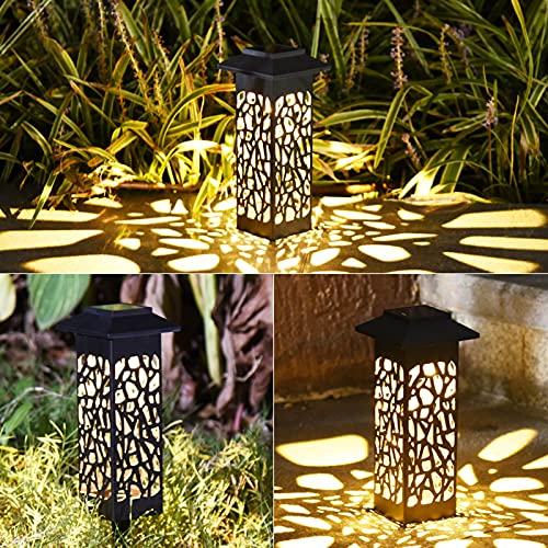 DYJXIGO Jardín al Aire Libre Luz Solar 3 Pack, luz de jardín Solar para Patio Patio Patio Patrimonio Jardín Powered Powered Lighting