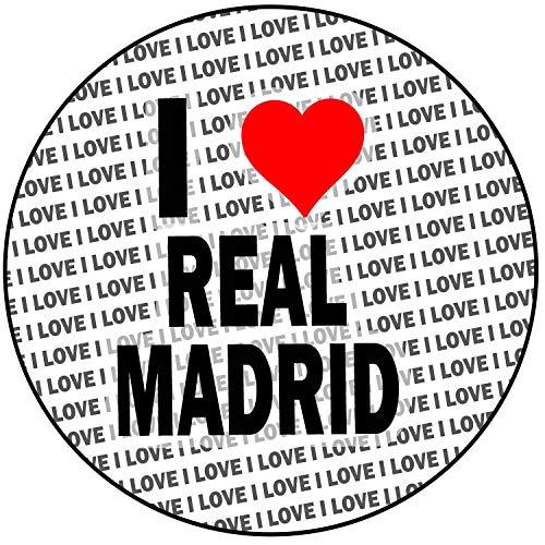 AK Giftshop I Love Real Madrid - Decoración Redonda para Tartas (20 cm)