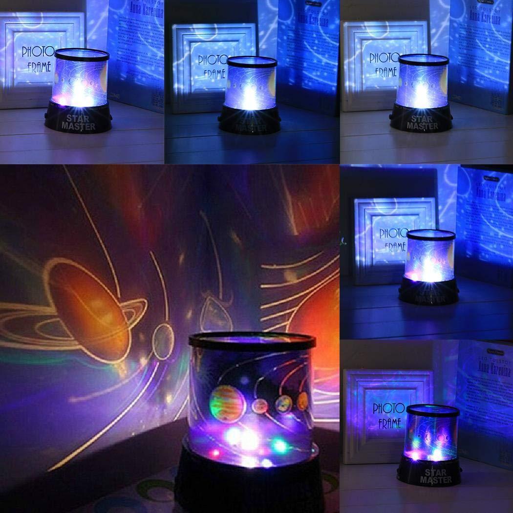 Lámpara Proyector Estrellas Luna, Lámpara de luz Nocturna LED ...