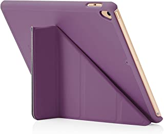 "Pipetto Origami iPad Case 9.7"" (2017/2018) 6th Generation & Air 1 with 5 in 1 Stand & auto Sleep/Wake Function Purple"