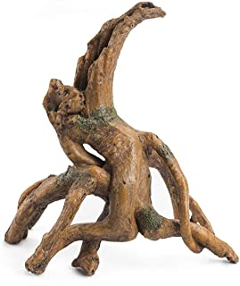 Niteangel Driftwood Resin Tree Stump Decor for Aquarium Ornament (DW-01)
