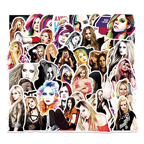 WYZNB 51 pegatinas de Avril Lavigne con diseño de estrella de graffiti personalidad, para coche, moto, scooter, impermeable, extraíble, vinilo