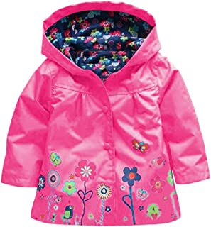 girls floral raincoat