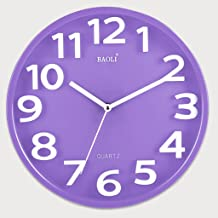 CHENGYIパープルシンプルクリエイティブクォーツ時計ファッションウォッチシンプルな壁掛け寝室リビングルームサイレント時計吊り下げ直径31cm