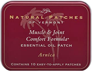 Natural Patches Of Vermont Arnica Muscle & Joint Comfort Essential Oil Body Patch, 10-Count Tin