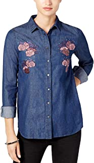 Buffalo David Bitton Thinatini, Embroidered Denim Shirt, Vale, S