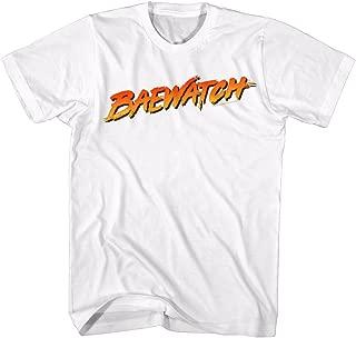 American Classics Baywatch 90's Drama Beach Patrol Lifeguard Baewatch Logo White Adult T-Shirt Tee