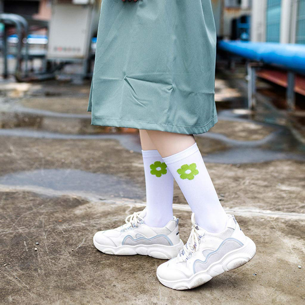 Yanhonin - Calcetines de algodón para Mujer, diseño de Flores ...